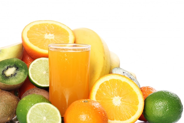 Glass of fresh fruit juice