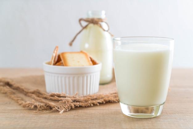 Glass of fresh milk