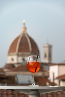 A glass of italian cocktail