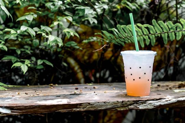 Glass of lychee soda