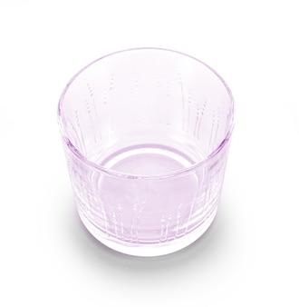 白い背景で隔離のカップのガラス