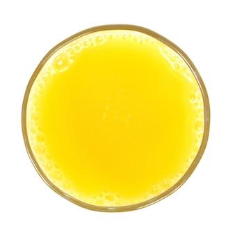 Стакан апельсинового сока, изолированные на белом фоне