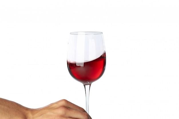 Бокал вина, изолированные на белом фоне