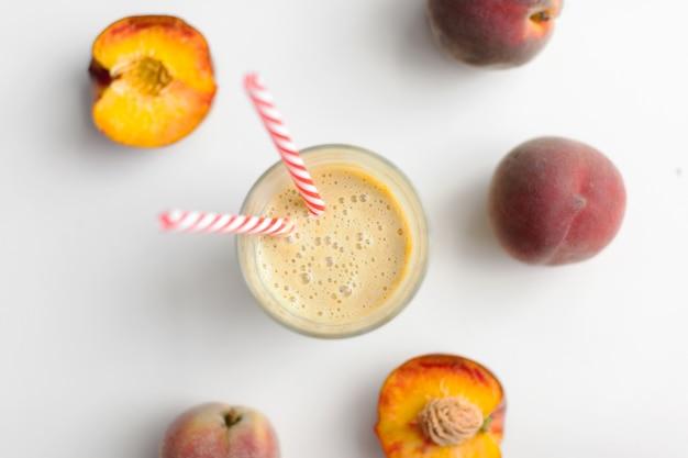 Glass of peach fresh