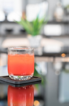 Glass of punch juice