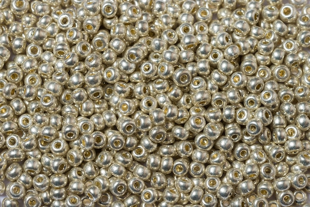 Glass seed beads textured background