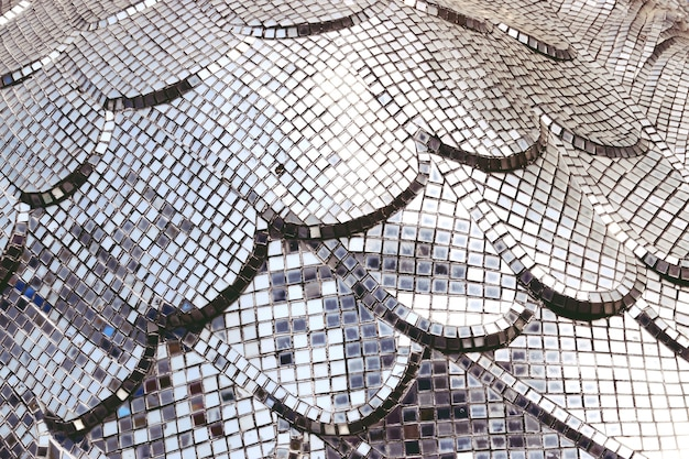Glass square mosaic tiles for texture background