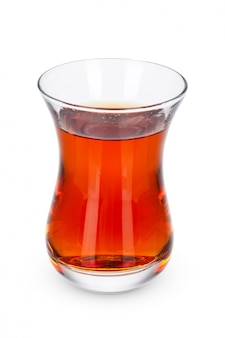 Glass tea cup isolated
