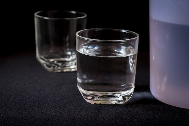 Glass of water, collection of water glass, fresh water for dink