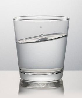 Glass of water macro shot
