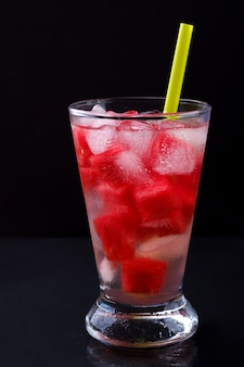 Glass of watermelon cocktail