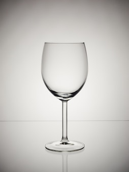 Glass on a white grey gradient background