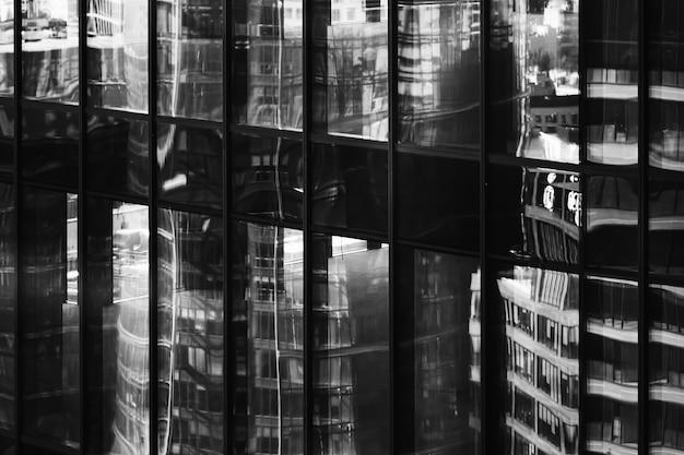 Glass windows of modern skyscraper
