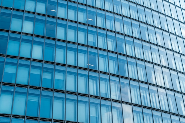 Glass windows of skyscrapers in lujiazui financial district, shanghai
