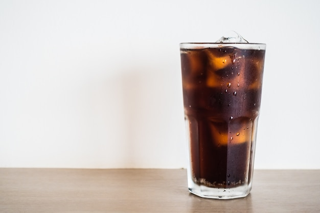 Glass with coke