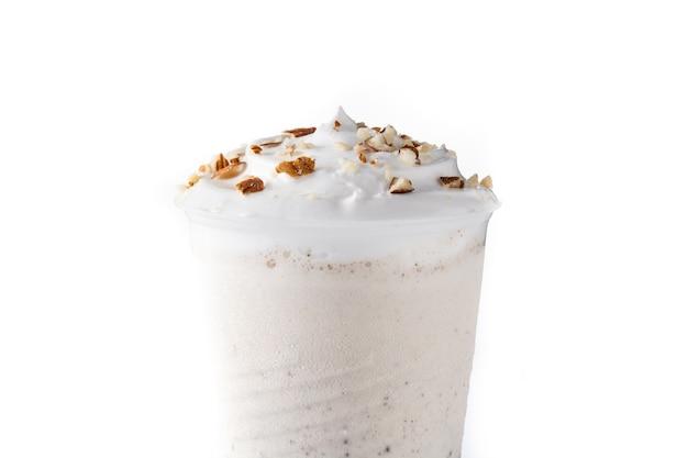 Glass  with iced milkshake