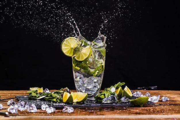 Glass with mojito