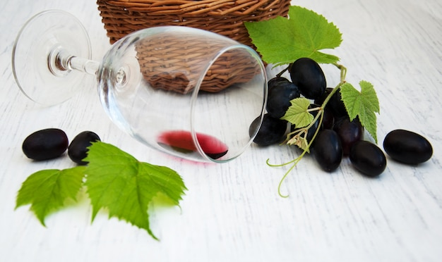 Glass with wine