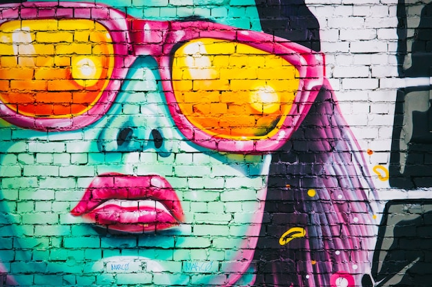 Glass woman wall illustration