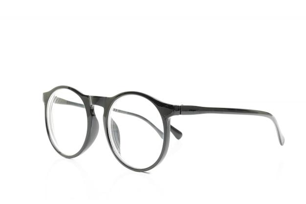 Glasses black on white