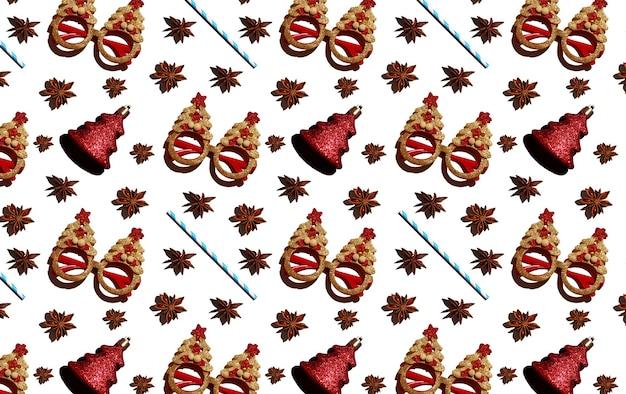 새해 스타일의 안경 아니스 스타 빨간 크리스마스 트리 형태의 크리스마스 트리 장난감...