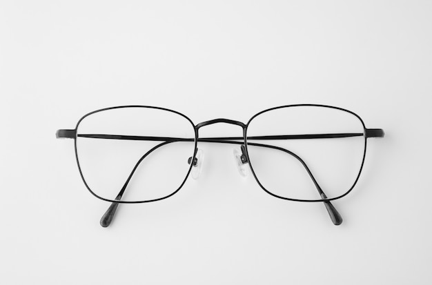 Glasses on isolated and white