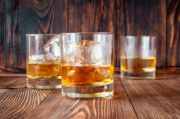 Glasses of southern whiskey