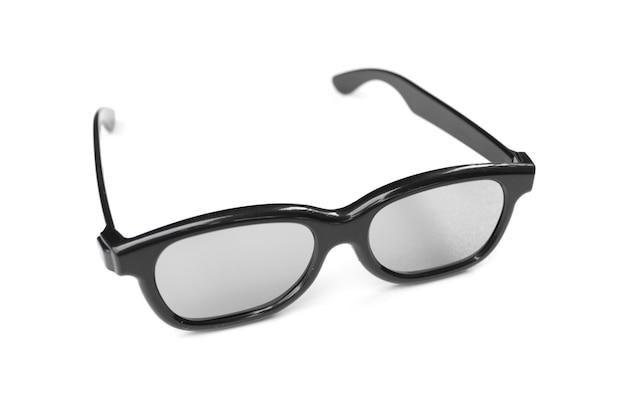 白い背景で隔離のシンプルなデザインのメガネ