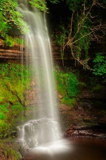 Glencar falls   hdr  vibrant