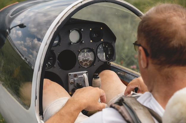 Glider aerometric instrument panel of aircraft