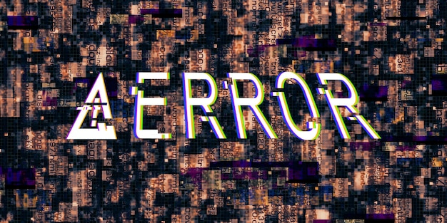 결함 효과 컴퓨터 위험 기호 해킹된 오류 사이버 펑크 디자인 s 디지털 픽셀