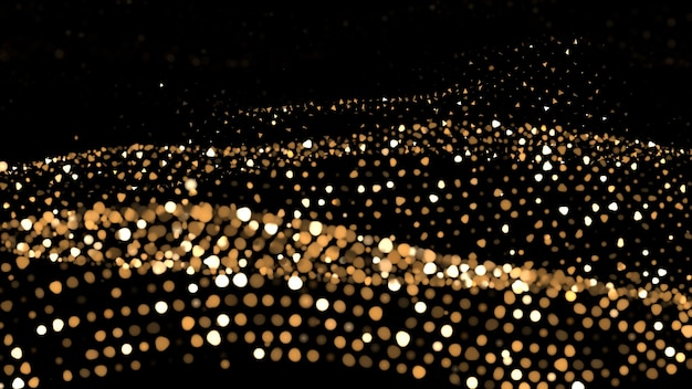 Glitter abstract background. gold sparks and highlights.
