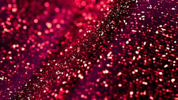 Glitter abstract background, purple sparks and highlights. 3d illustration, 3d rendering.
