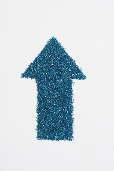 Glitter blue arrow pointing up