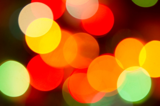 Glitter bokeh color lights defocused background