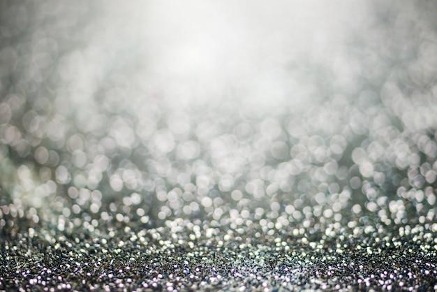 Glitter light abstract black bokeh light blurred background