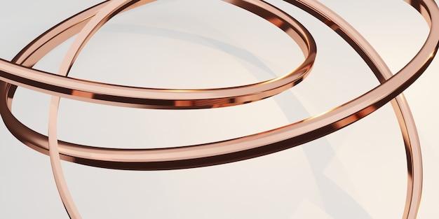 Блеск кольцо фон абстрактный белый фон 3d иллюстрация