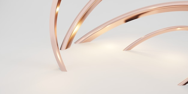 Glitter ring background abstract white backdrop 3d illustration