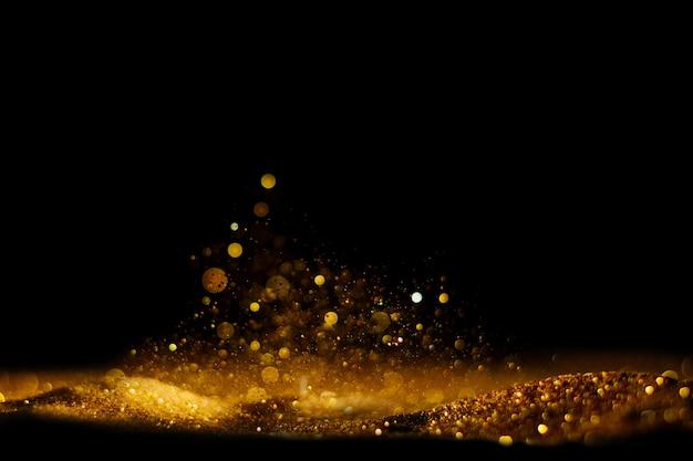 Glitter vintage lights background.