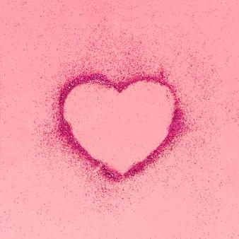 Glittering shape of heart