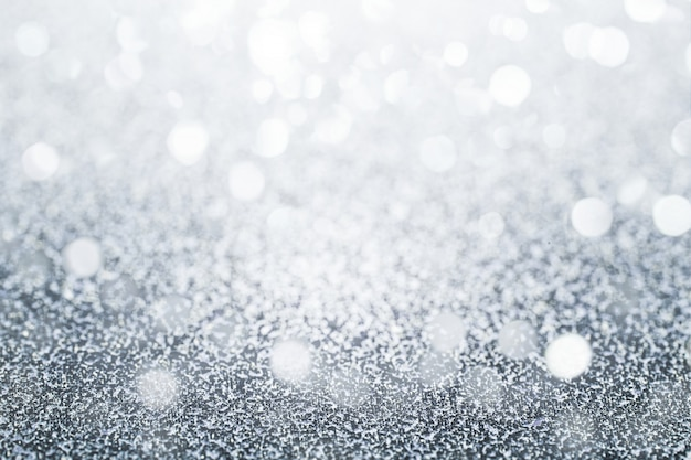 Glittery silver background