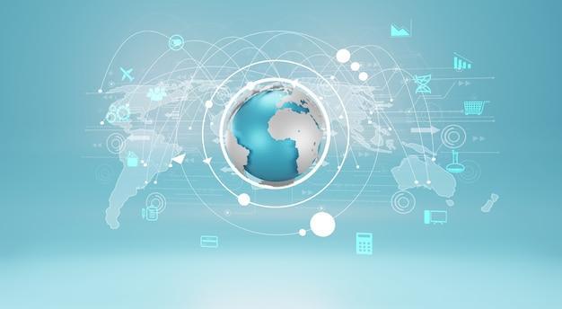 グローバルビジネス接続、ソーシャルネットワークの概念