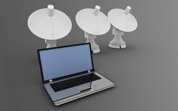 Концепция глобальной коммуникации. 3d иллюстрация