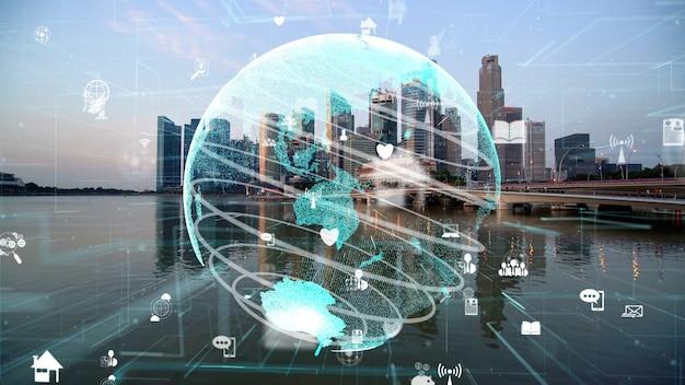 Глобальная связь и модернизация интернет-сети в умном городе