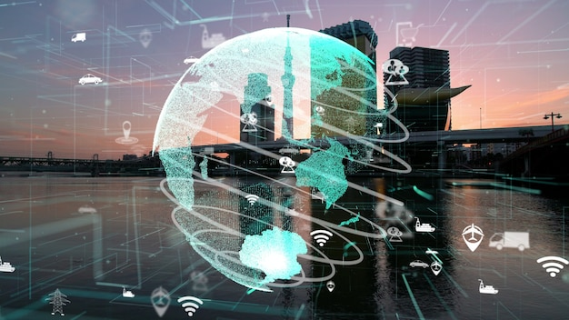 スマートシティにおけるグローバル接続とインターネットネットワークの近代化