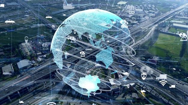 Глобальная связь и модернизация трафика в умном городе