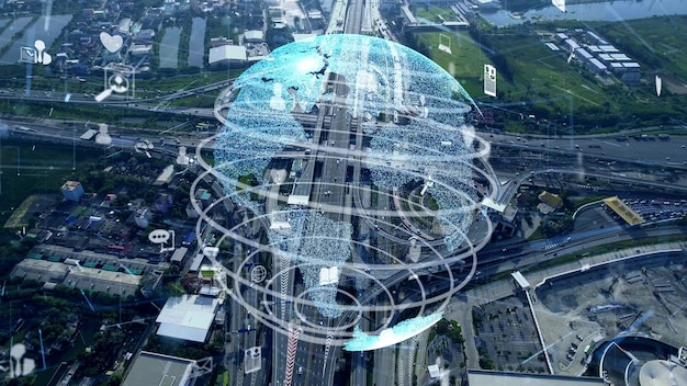 Global connection and internet network modernization in smart city