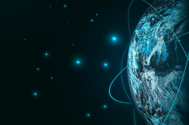 Global connections background for social media banner