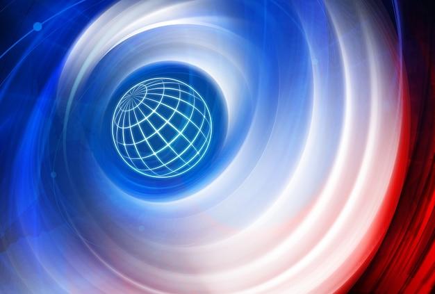 전 세계를 통한 글로벌 연결 및 네트워크 배경