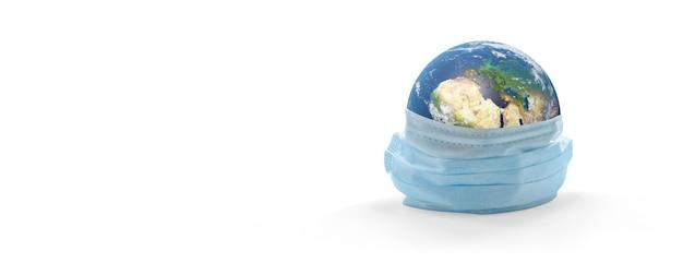 글로벌 코비드-19 코로나바이러스 발생. 3d 그림입니다. nasa에서 제공한 이 이미지의 요소입니다.